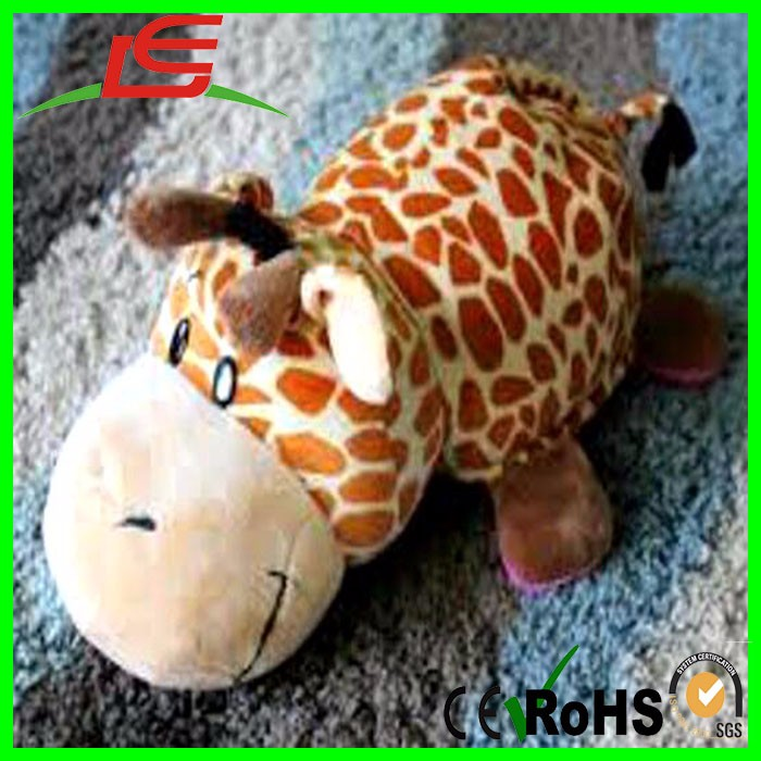 flip Peluche hippo giraffe stuffed animal pillow