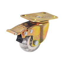 Transparent PU caster wheel with double ball bearing