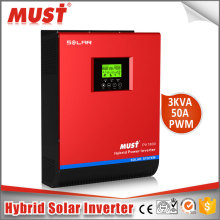 MUST PV1800 Pure Sine Wave High Frequency 3kva 2400w 5kva 4000w 220V solar inverter with 60A charger