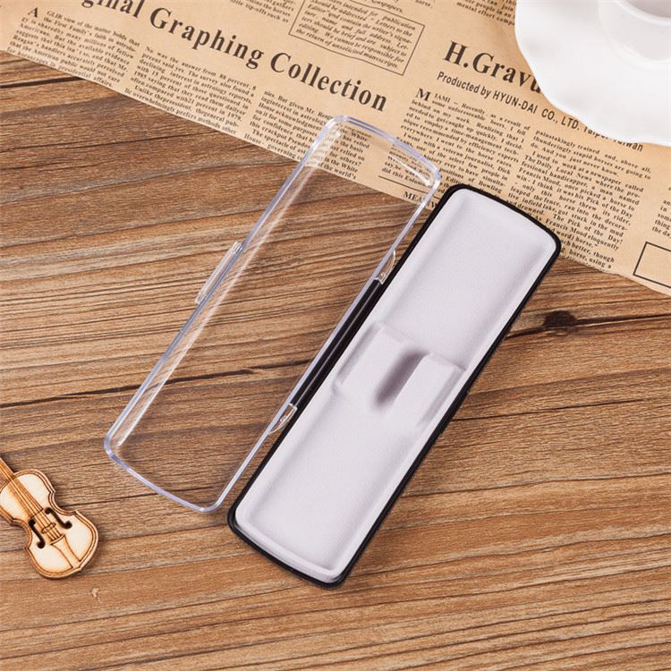 Best seller simple transparent case pen box large directly sale
