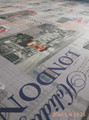 newspaper print sofa fabric