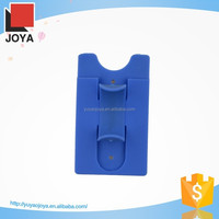 silicone card holder attach to the back of smart phone