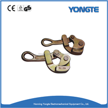 Easily operated cable clamp/puller ratchet tightener/wire rope grip