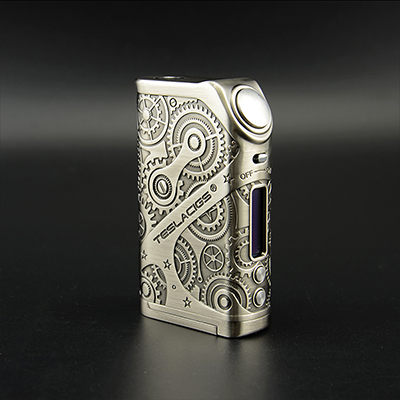 Tesla nano 120w mod Steampunk Style excusively in Ave40 vape.