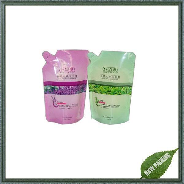 alibaba china disposable liquid stand up bag with spout for packing