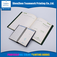 Customized Offset paper Spiral binding diary printing