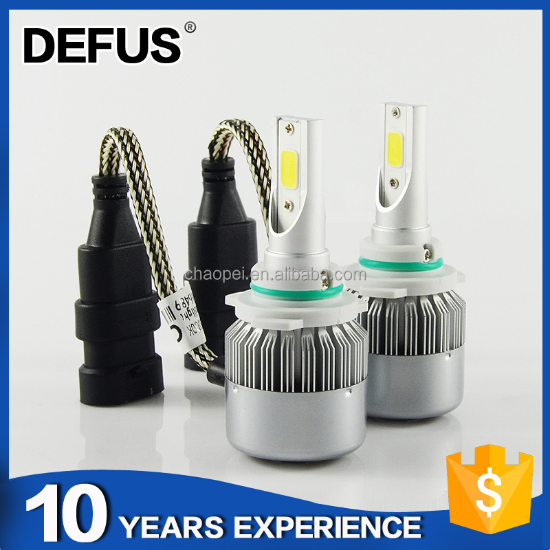 Intergrated Design Long Lifespan hot selling Car C6 9012 Led Headlight Bulbs