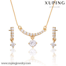 63662- Xuping Copper alloy artificial jewellery set packaging