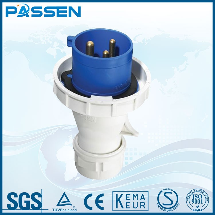PASSEN wholesale IP65 good quality 3p+n+e industrial plug and socket