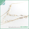 White bead Long necklace, wholesale accessory market
