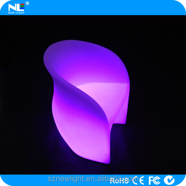 Christmas lamp led sofa outdoor , new style plastic chair , led furniture lighting
