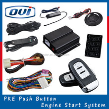 Smart key car remote control start anti-hijacking car alarm system with car immobilizer