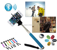 Extended wireless stainless stick handel bluetooth shutter button for cell phone