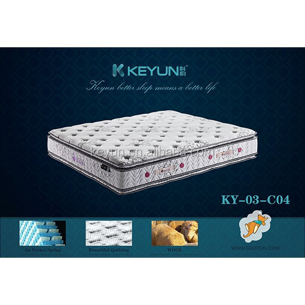 Four stars hotel mattres dream well bamboo king size mattress KY03-C04