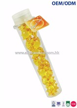 OEM/ODM Sun Shape Gelatin Capsules filled with Mineral Oils, Glycerin & Vitamin E in a large Test Tube Bath Beads Bath Pearl