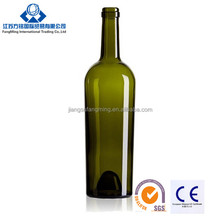750ml high quality red wine glass bordeaux bottle