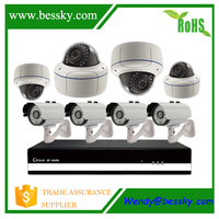 wifi ip camera with nvr kit,ipc h.264 nvr kits for ip camera with i/o alarm port ,sentient cctv kit