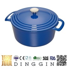 blue dutch oven/cast iron pot with enamel coated china supplier