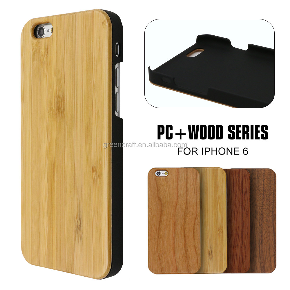 Customized Logo PC Bamboo Mobile Phone Case For Iphone 6s Cases 2016