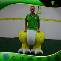 Funny Inflatable Half Dragon Pants / Double layer Inflatable PVC Pants