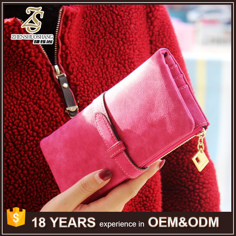 2016 Fashion Custom Embossed Handmade Luxury Lady Clutch Women Wallet Purse for Wholesale