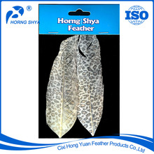Bleached Dyed Customized Goose Feather/ Feather Printed With Leopard Pattern