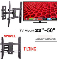 Flat Screens LED TV Mounts Full Motion Swivel Articulating Arm LCD Plasma TV Mounting Bracket 55 inch for Skyworth