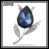 2016 Fashionable Crystal Jewelry Yiwu Company Logo Brooches