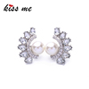 Young Lady Crystal Pearl Earring Fashion