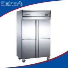 Hot selling curved door upright freezer and chiller