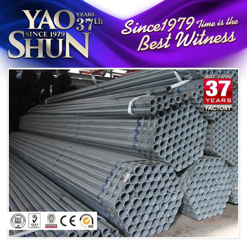 construction material gi pipe pre zinc coating