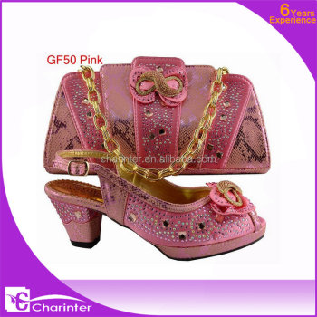 italian shoes and bags to match GF50 pink