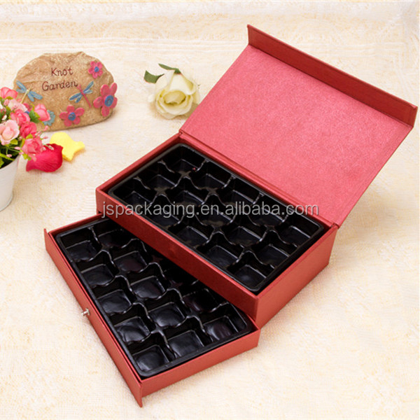 SFX 100% custom fancy professional christmas acrylic paper chocolate gift packaging box inserts
