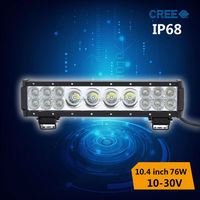 new arrival offroad led light bar 76w with 3w 10w cree chips hybrid