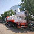 6x4 dust suppression truck equipped with diesel engine power generator voltage transformer and 120 meters dust fighter