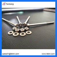 china supplier baoji tianbang company make gr5 ti barrel bolt and nuts for seat post bolts