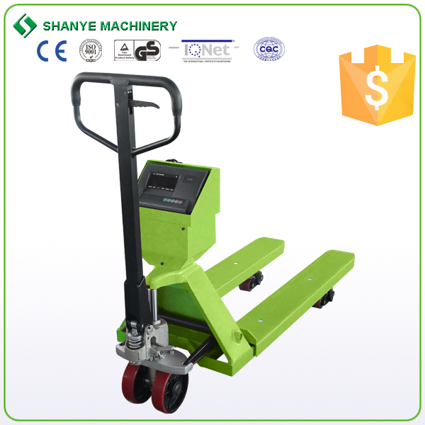 Warehouse hydraulic scale hand pallet truck