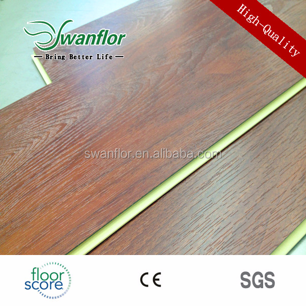 Drop Click System Sound Absorbing Vinyl Plank WPC Flooring