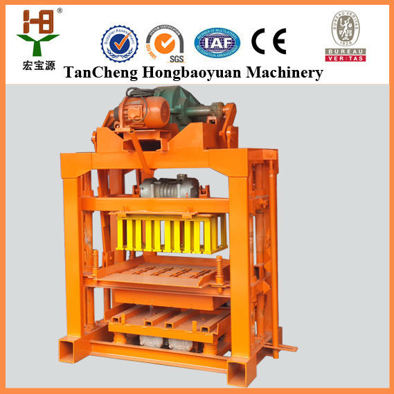 New type QTJ4-40 manual cement hollow block machinery plant