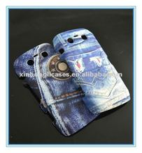 Fashion Jeans double layer mobile phone case for Blackberry9860 with factory price