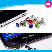 Blingbling crystal dust plug for Cell phone dust plug charm