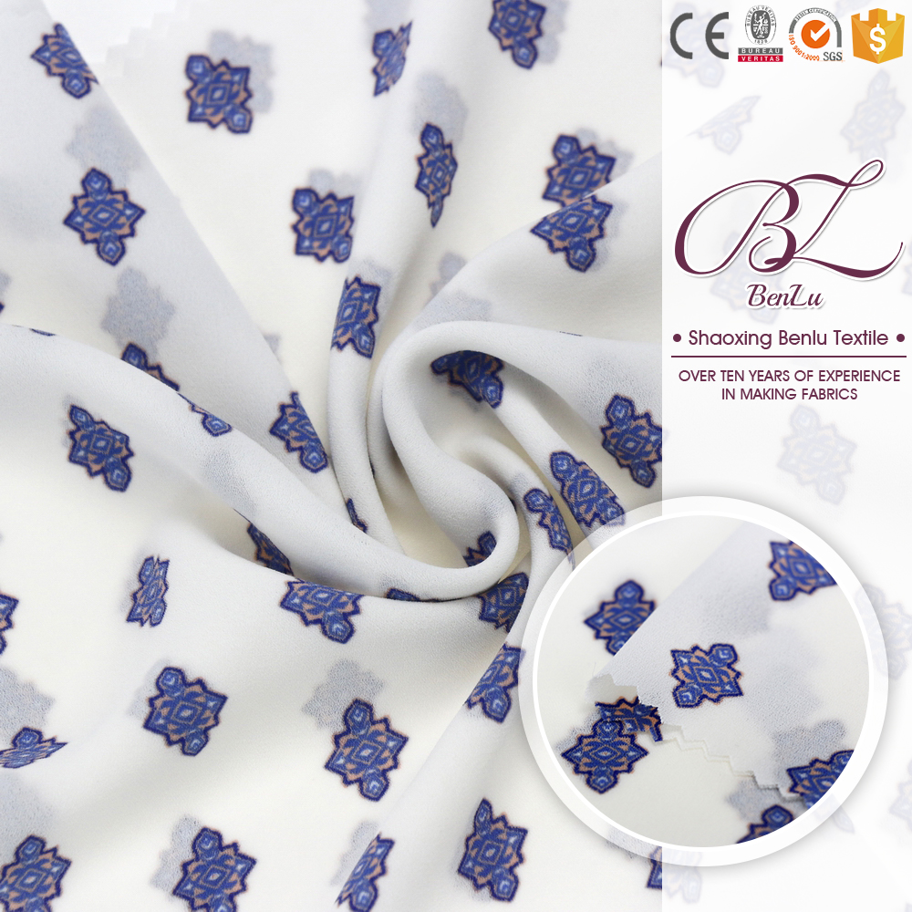 China supplier poly georgette polyester scarf toile fabric