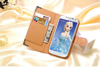2016 cell phone cover case for samsung galaxy s4 with magnetic mobile phone security display hold
