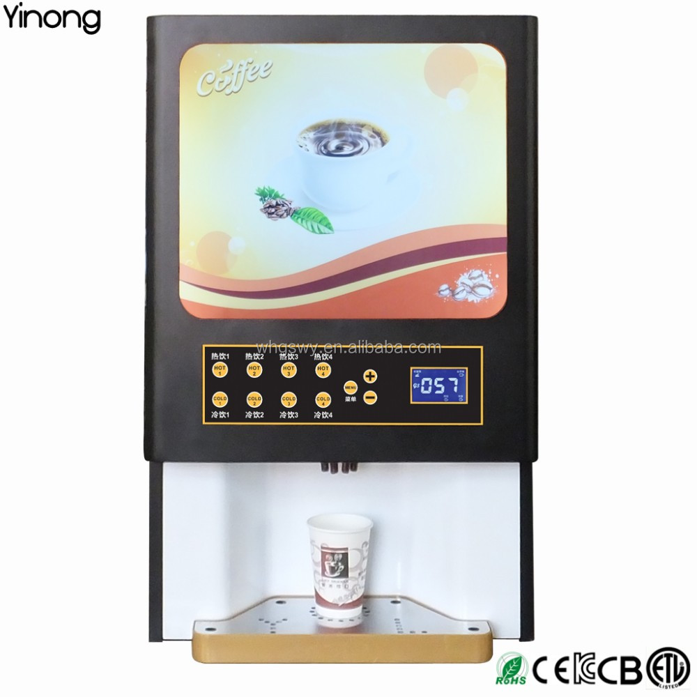 Fully automatic commercial table top coffee vending machine