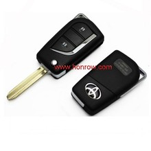 High quality Toyota 2 button remote key blank with Toy43 blade toyota smart key 2 button