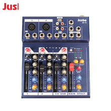 Jusbe simple audio sound mixer mp3 DJ Music sound mixer 4 channel mixer console