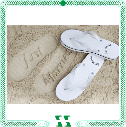 Custom wedding favor wholesale flip flops