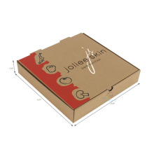cheap corrugated paper custom logo box pizza