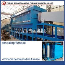 continuous electric stainless steel bright annealing heat treatment muffle furnace