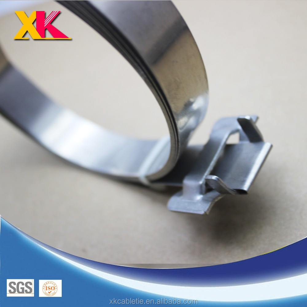201/316 Stainless Steel Strapping Band For Power Hardware Cable Clamp